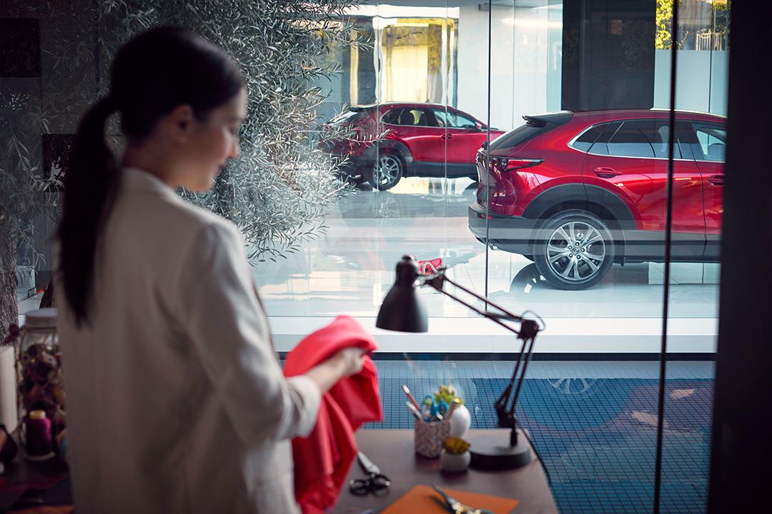 Coche Mazda en interior