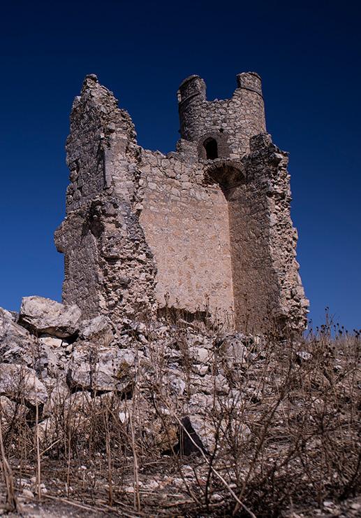 Uno de los laterales del castillo