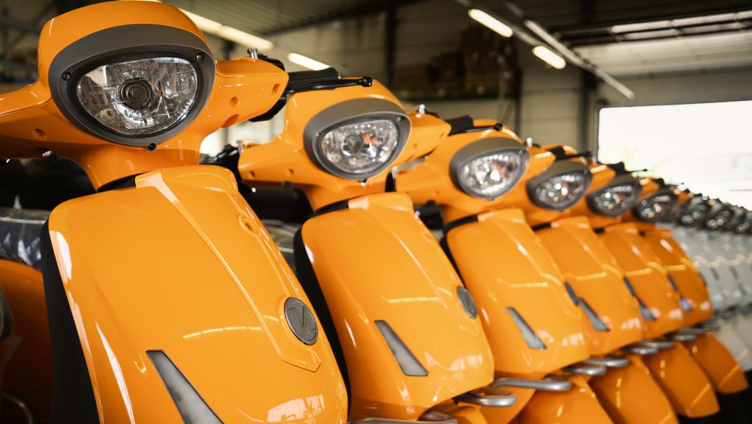 Fila de motos