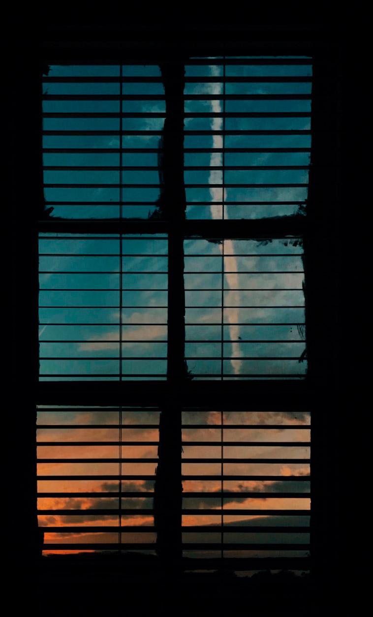 Atardecer desde una ventana