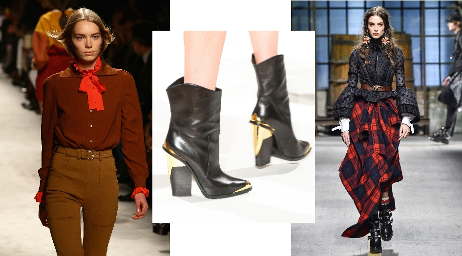 Desfile de Dsquared2, botas de Versace y modelo de Etro.