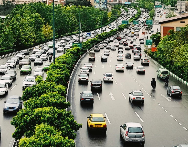 tráfico denso