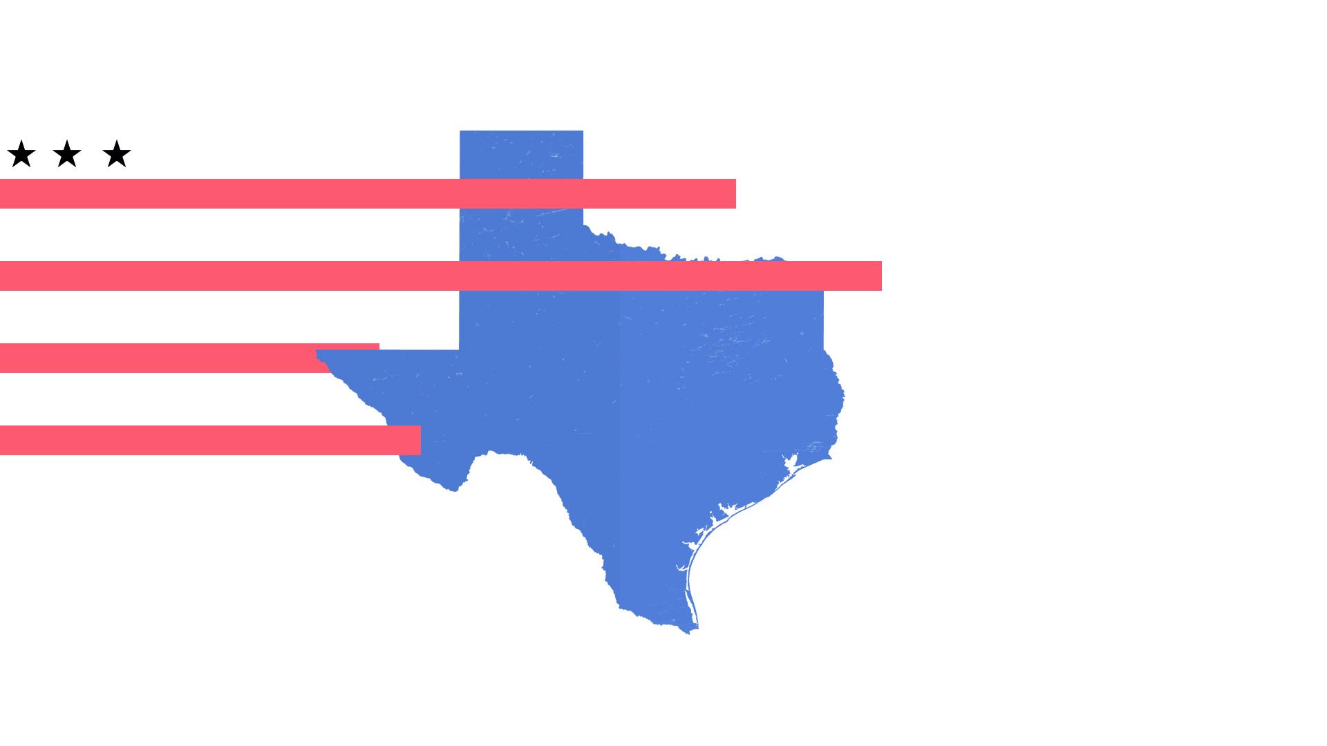 Ilustración del estado de Texas