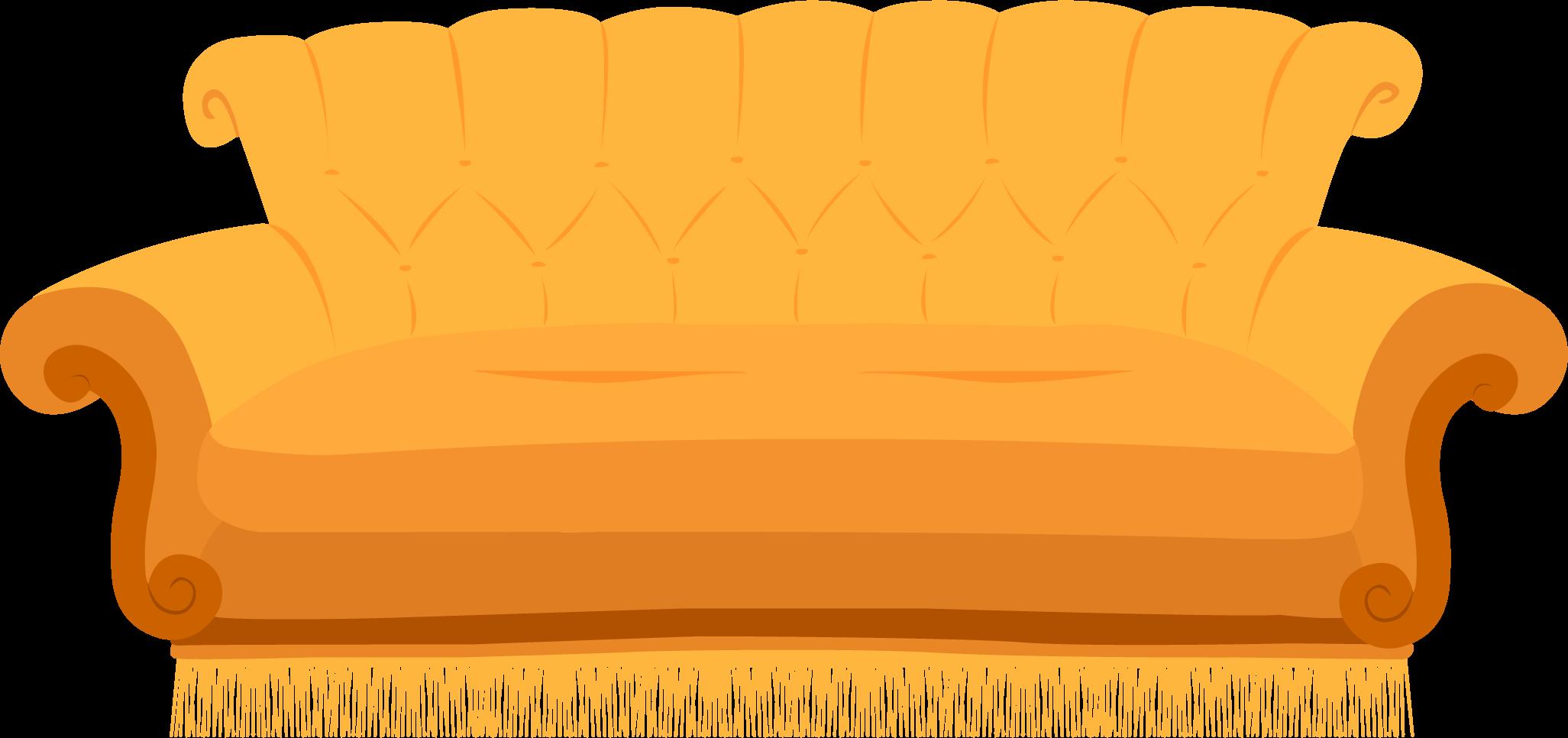 sofá característico de Friends