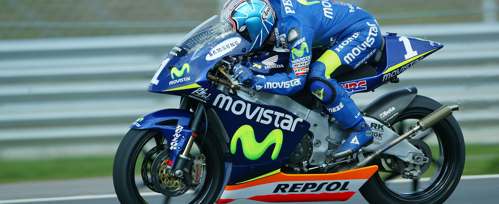 Dani Pedrosa revalidó el mundial de 250cc con el equipo Repsol Honda tras haberlo logrado su primer mundial en esta categoría el año anterior