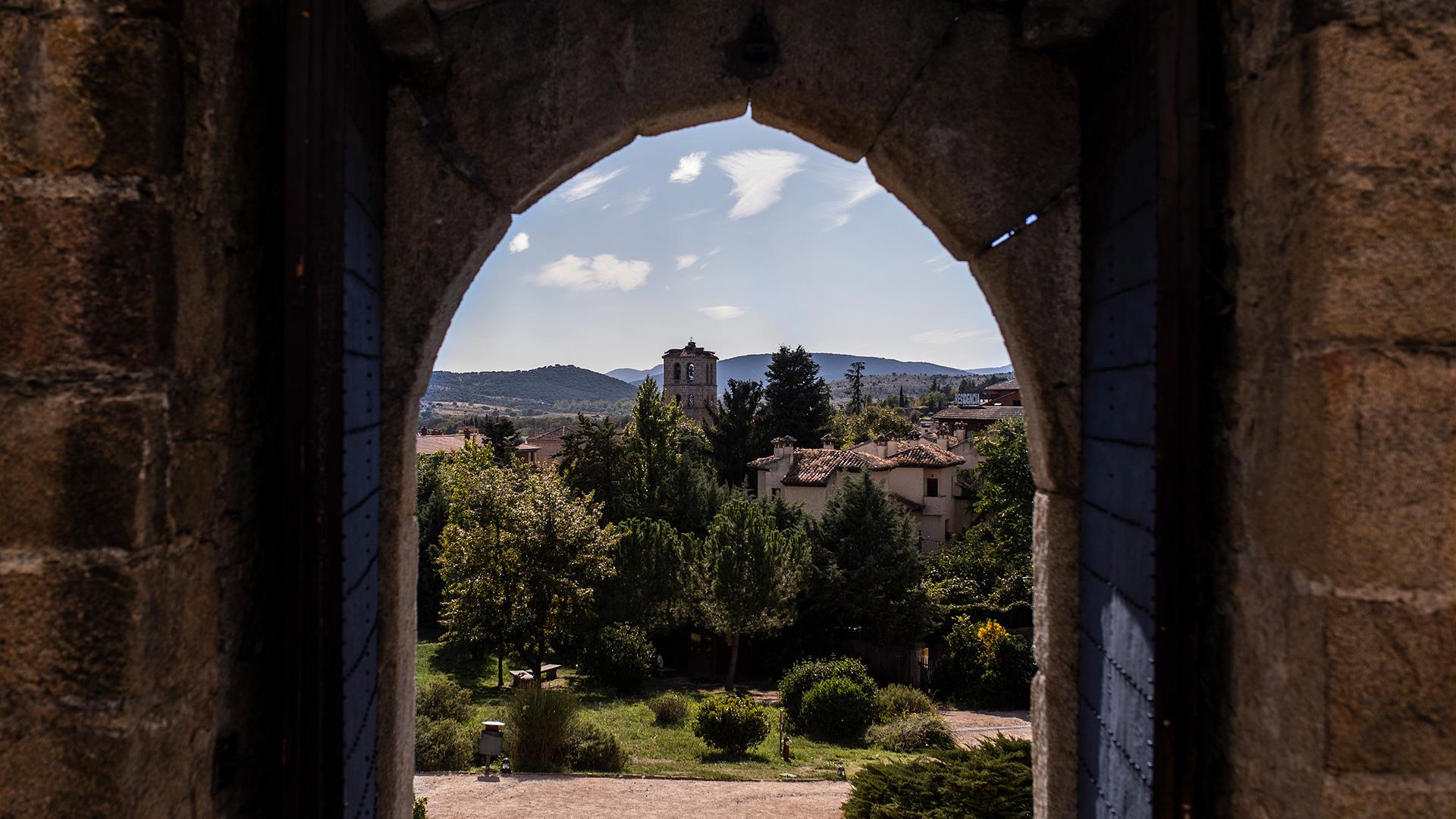 Vistas del pueblo desde el castillo de Manzanares el Real