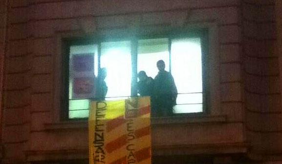 Imagen de la protesta. (@GuillemBantula)