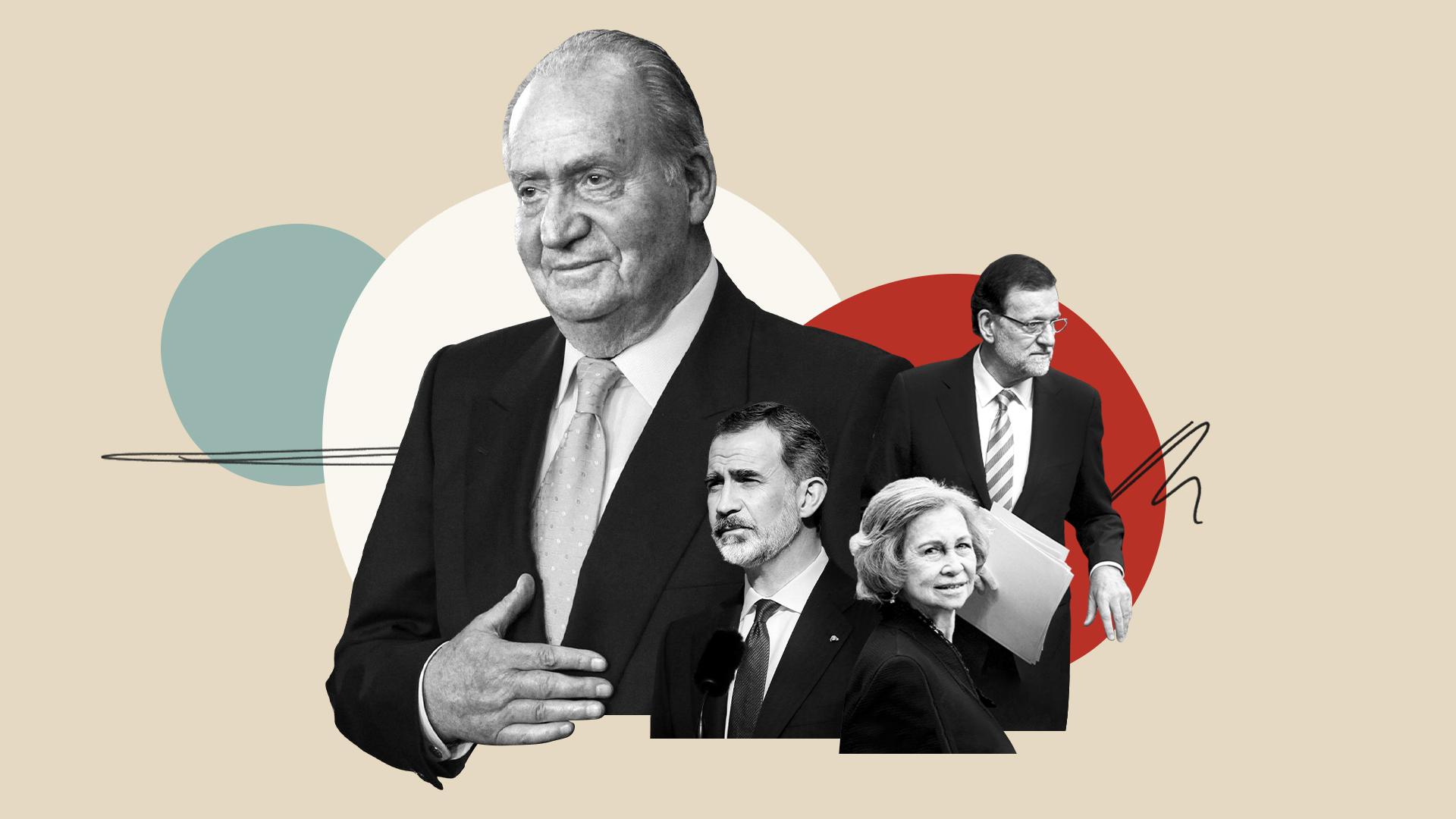 Ilustración sobre el rey emérito Juan Carlos I