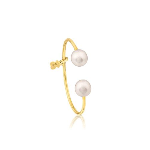 anillo Eklat de oro con perla