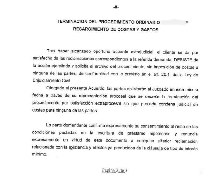 Cl usulas suelo la justicia cuestiona la legalidad de los for Acuerdo devolucion clausula suelo