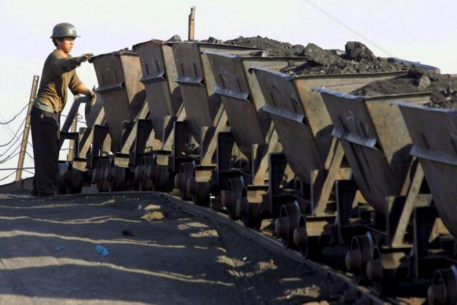 Trabajos en mina de carbón