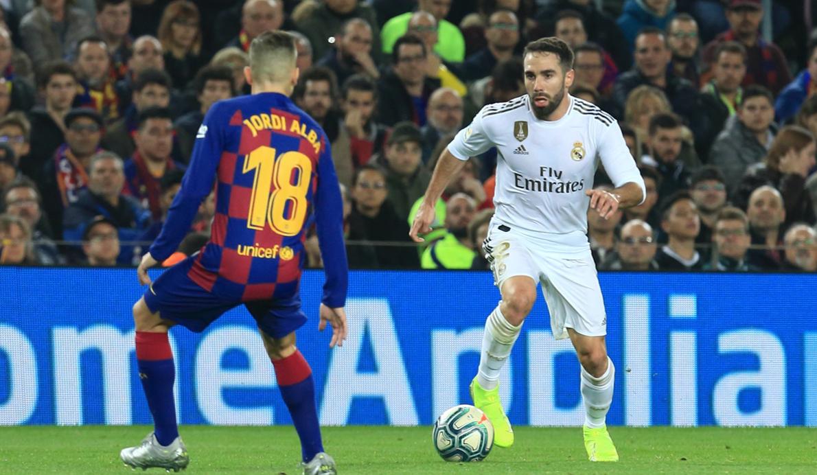 Jordi Alba (FC Barcelona) y Carvajal (Real Madrid FC)