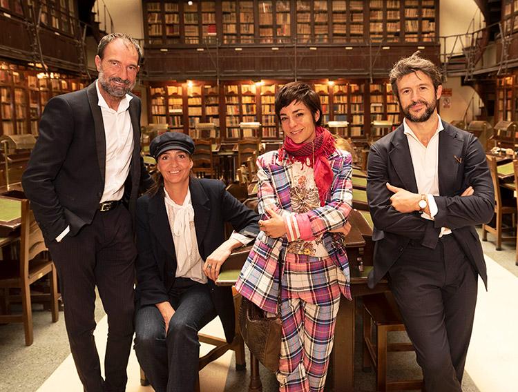 Eloy con los invitados en el Ateneo de Madrid