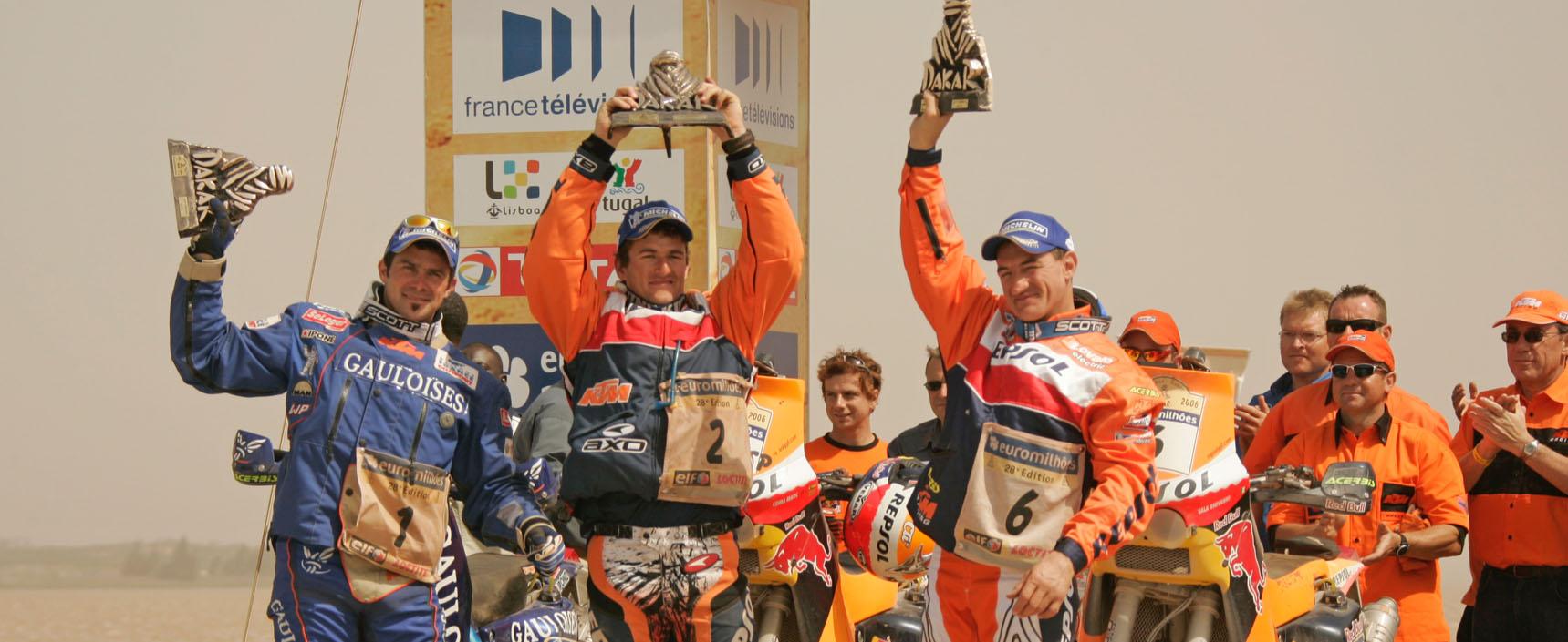 Marc Coma consiguió en 2006 su primer Dakar en la categoría de motos