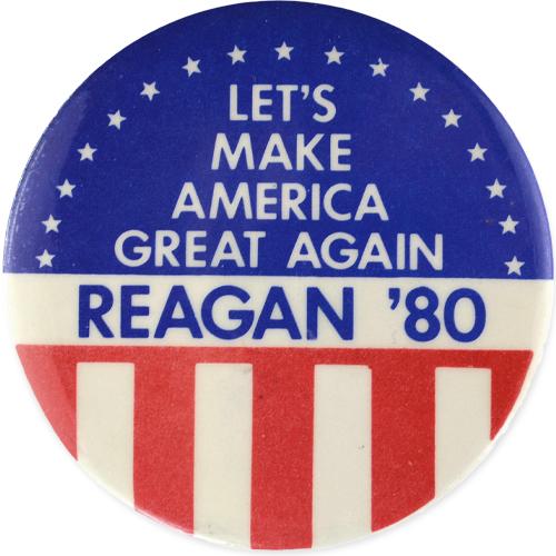 Chapa de Campaña Ronald Reagan
